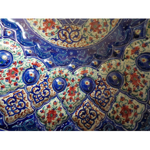 Enamel on Copper Candy/Nuts Bowl & Plate - HE2032-Persian Handicrafts
