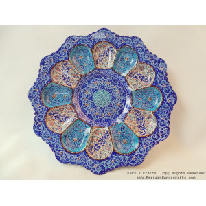 Enamel on Copper Candy/Nuts Bowl & Plate - HE3023-Persian Handicrafts
