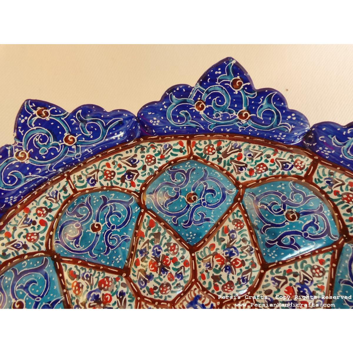 Wall Hanging Plate - Enamel (Minakari) on Copper - HE3025-Persian Handicrafts