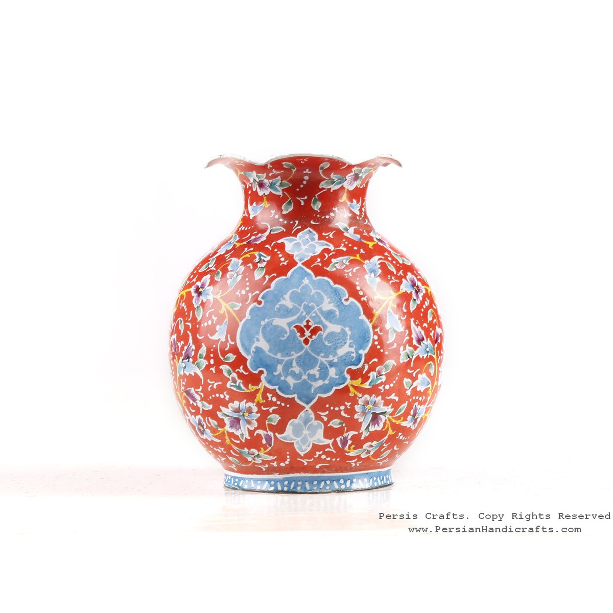 Enamel (Minakari) Mini Flower Vase - HE3614-Persian Handicrafts