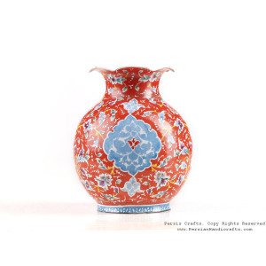 Enamel (Minakari) Mini Flower Vase - HE3614-Persian Handicrafts