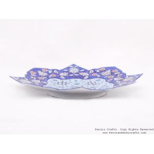 Enamel (Minakari) Wall Hanging Plate  - HE3703-Persian Handicrafts