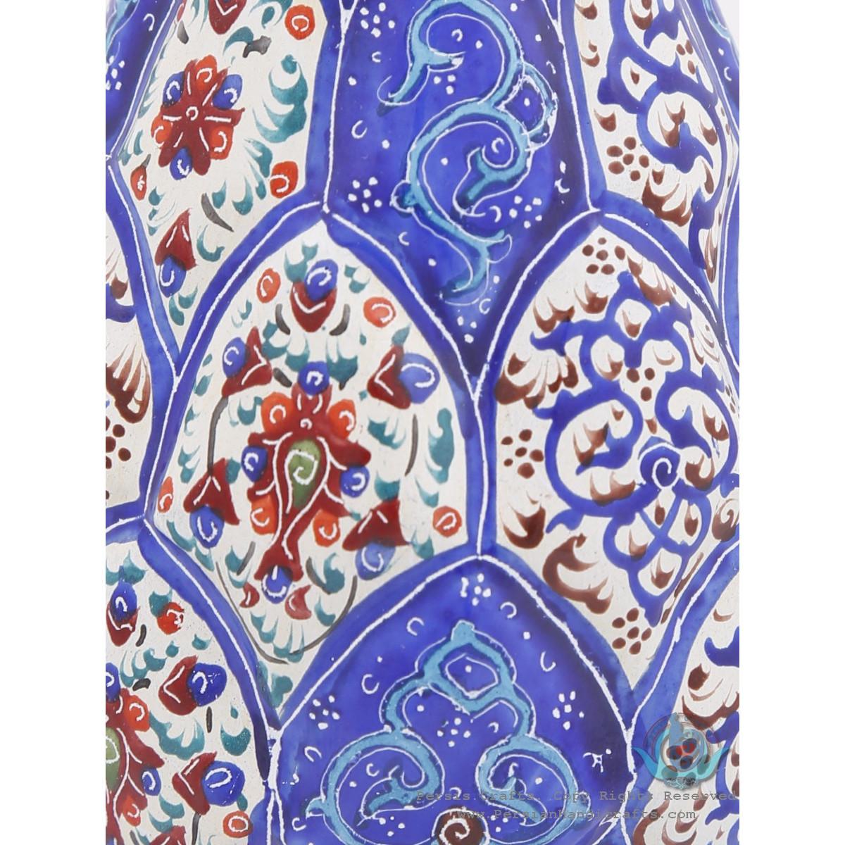 Enamel Classical Eslimi Toranj Minakari Flower Vase - HE3902-Persian Handicrafts