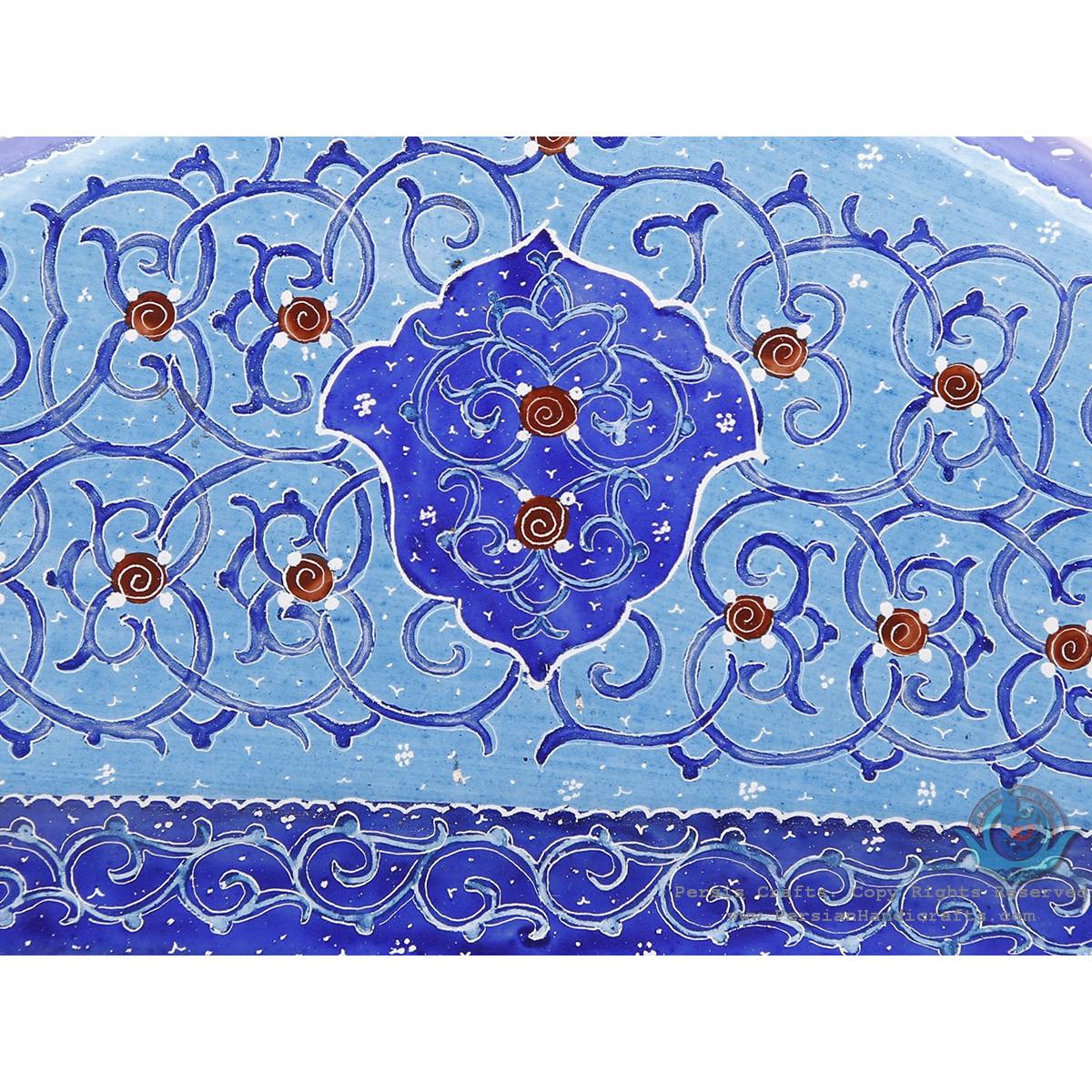 Classy Enamel Eslimi Design Minakari Wall Mirror - HE3920-Persian Handicrafts