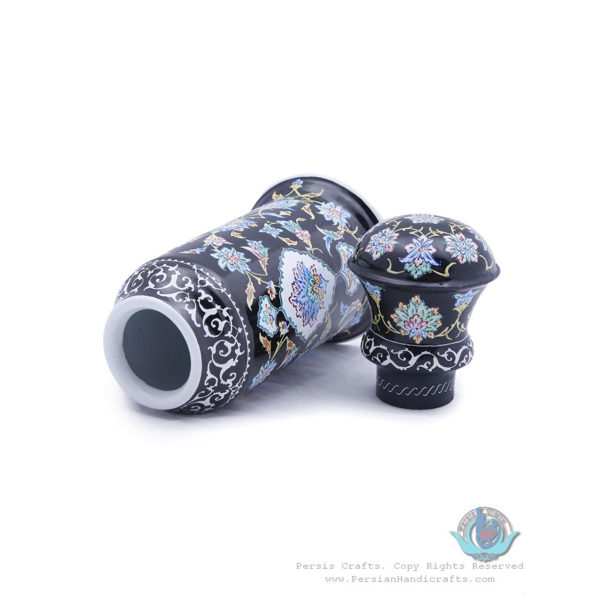 Unique Minakari Tea Mug with Lid - HE3924-Persian Handicrafts