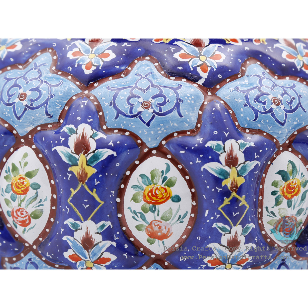 Privileged Candy Dish w Eslimi & Toranj Minakari Design - HE4003-Persian Handicrafts