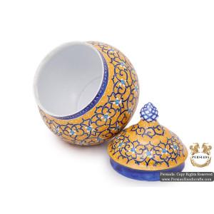 Sugar Pot | Hand Painted Minakari | HE5101-Persian Handicrafts