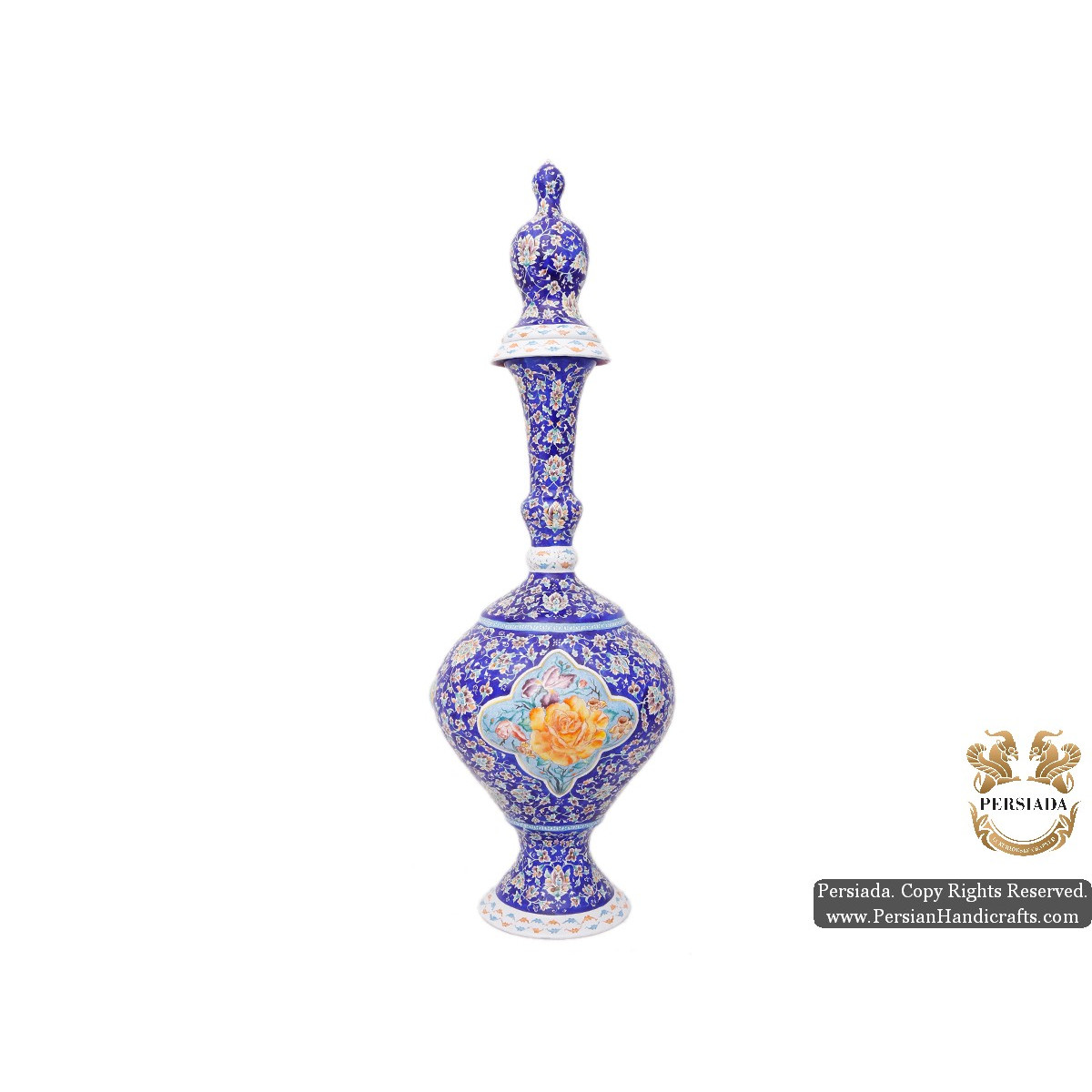 Jug with Lid | Hand Painted Minakari | HE5102-Persian Handicrafts