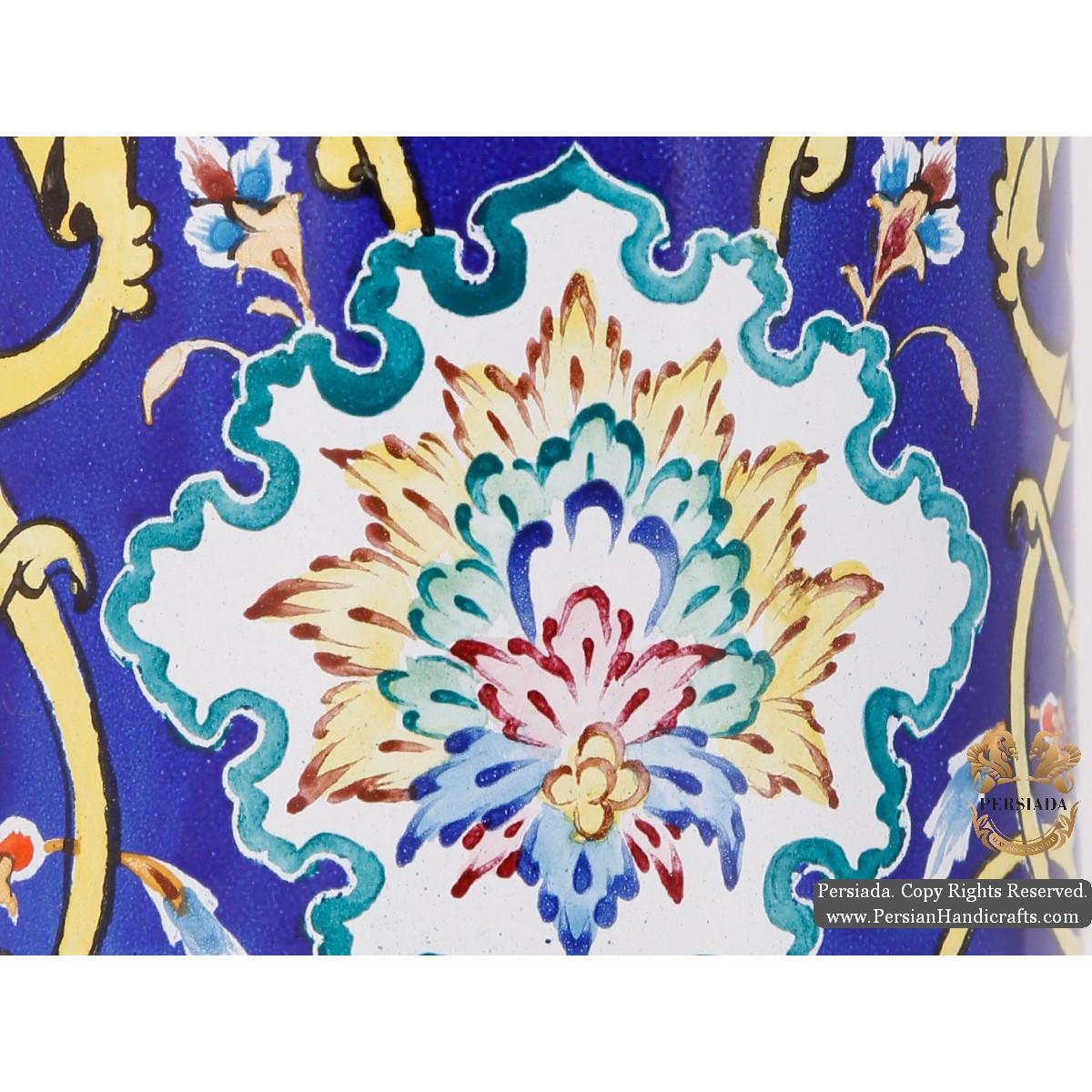Tea Mug with Lid | Hand Painted Minakari | HE5104-Persian Handicrafts