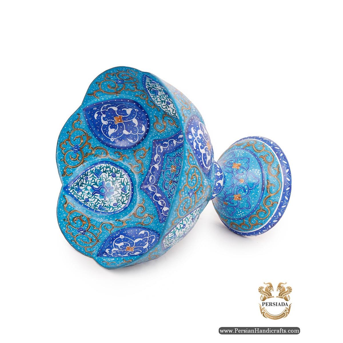 Pedestal Dish | Hand Painted Minakari | Persiada HE6101