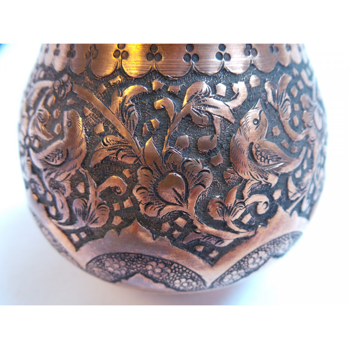 Luxury Engraved Sugar Pot/Candy Dish - HG1036-Persian Handicrafts