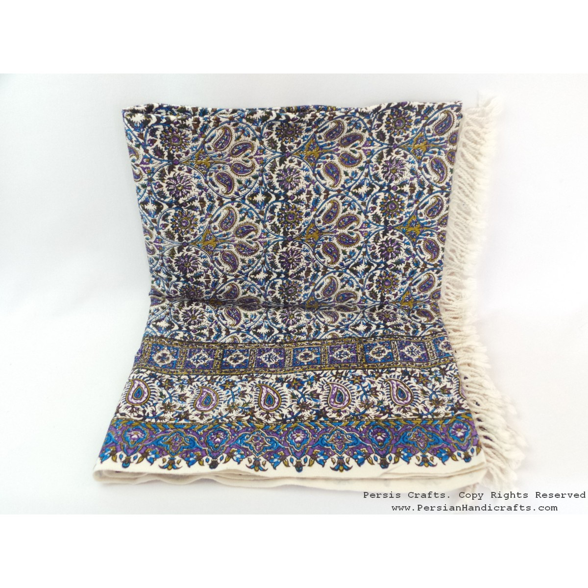 Persian Tapestry (Ghalamkar) Tablecloth - HGH3610-Persian Handicrafts