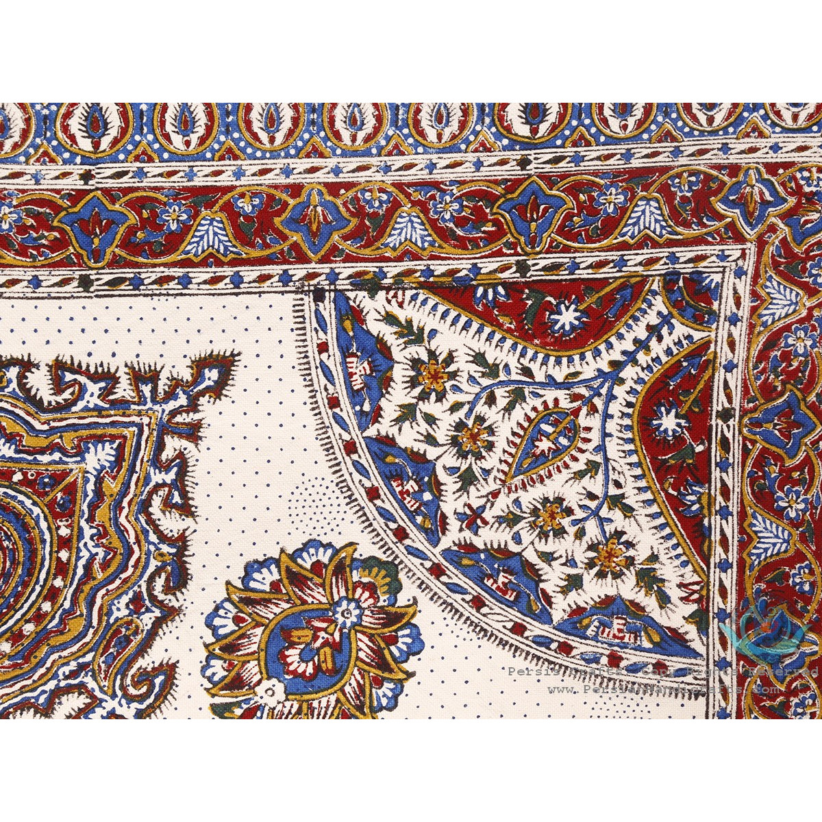 Multi Paisley Tapestry Ghalamkar Tablecloth - HGH3906-Persian Handicrafts