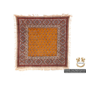 Square Tablecloth | Hand Printed Ghalamkar | HGH5106-Persian Handicrafts