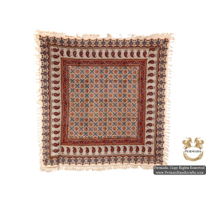 Square Tablecloth | Hand Printed Ghalamkar | HGH5107-Persian Handicrafts