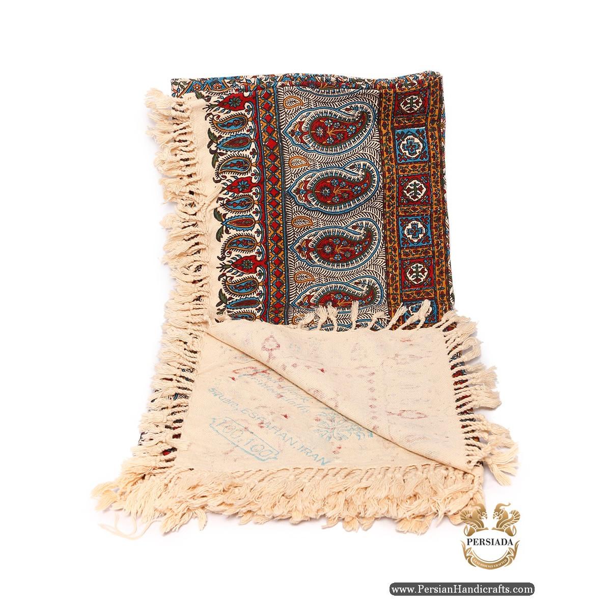 Square Tablecloth   Hand Printed Ghalamkar   Persiada HGH6104