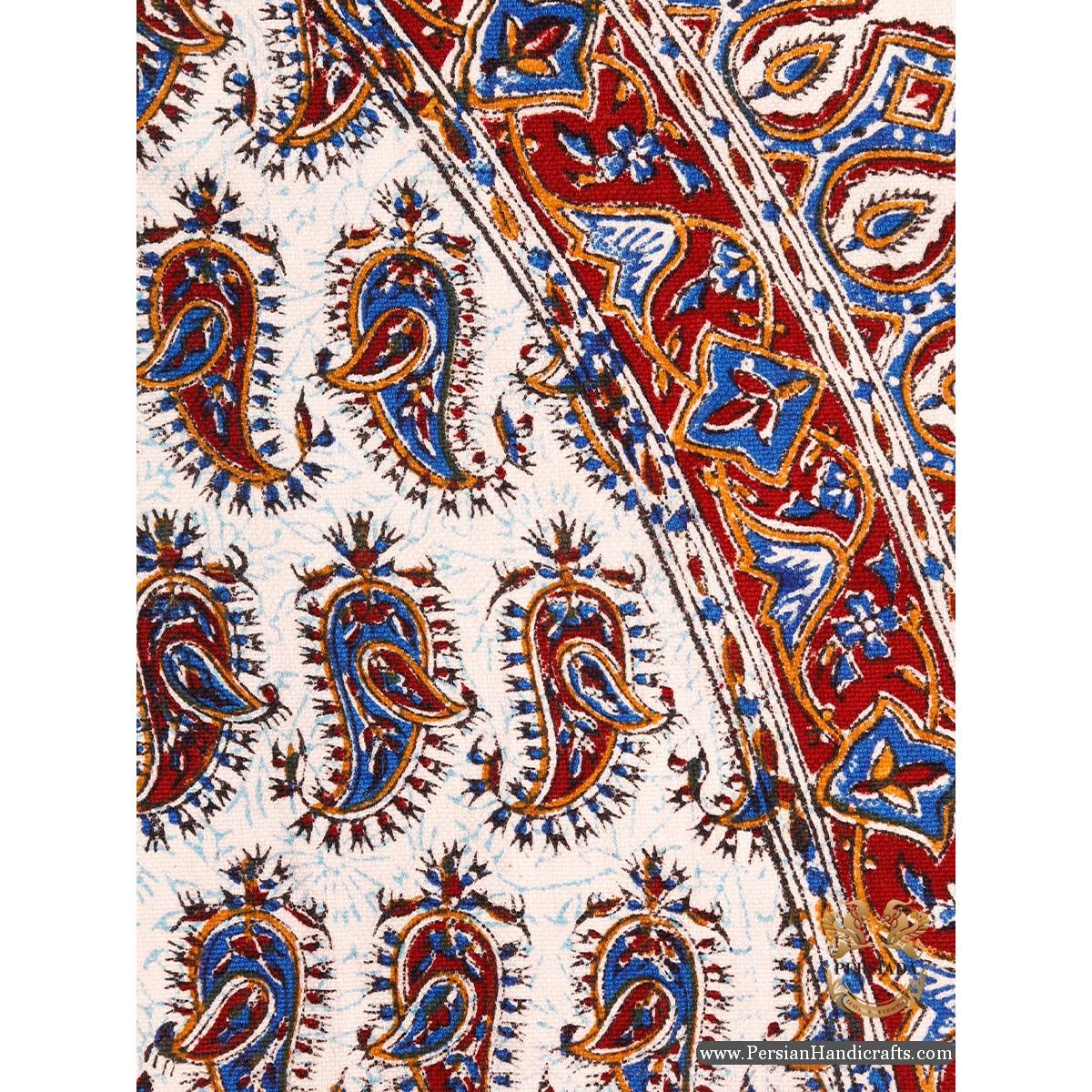 Round Tablecloth | Hand Printed Ghalamkar | Persiada HGH6106