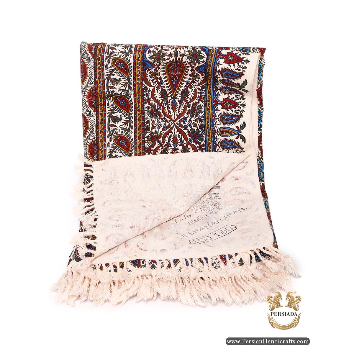 Rectangle Tablecloth   Hand Printed Ghalamkar   Persiada HGH6108