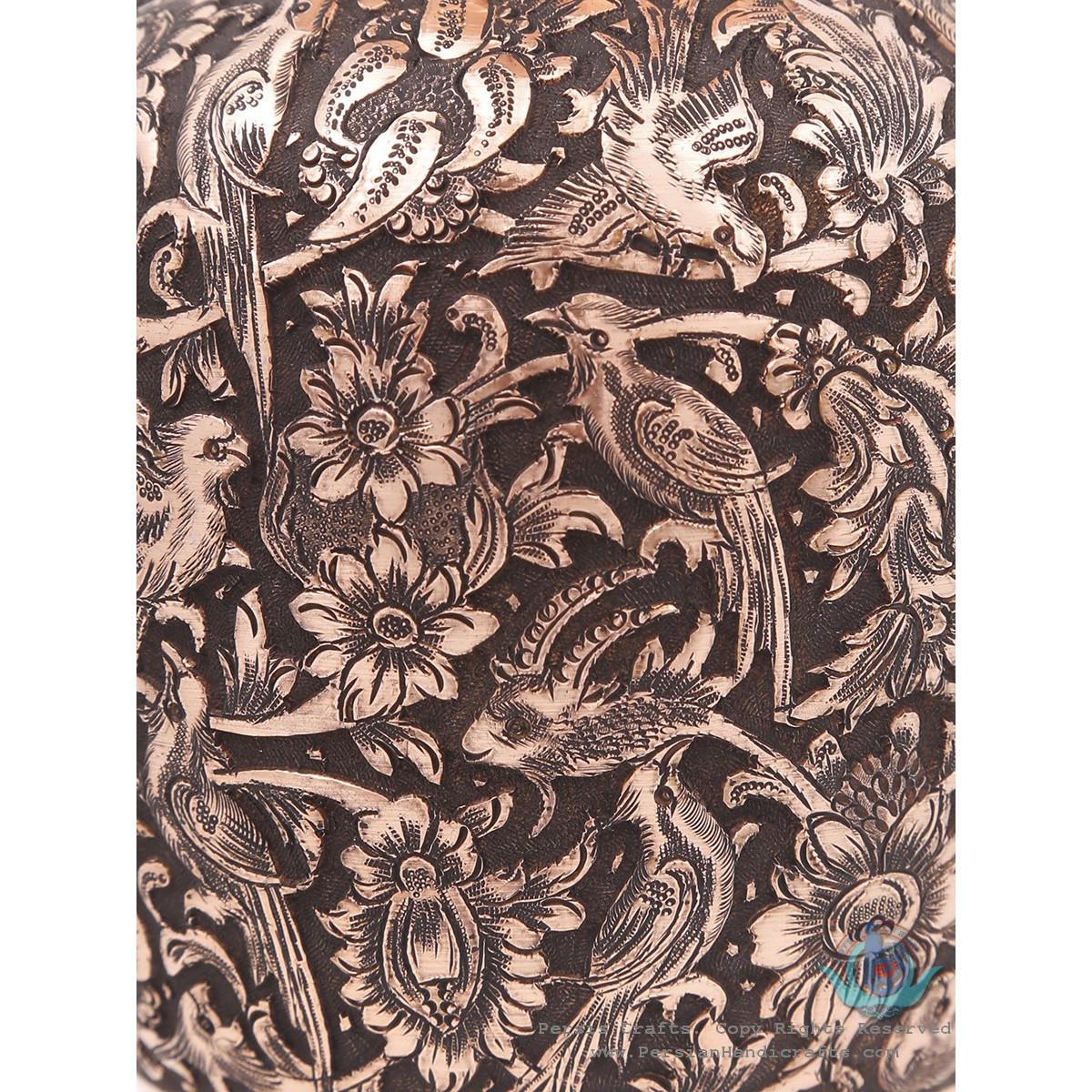 Persian Handgraved Flower & Bird on Flower Vase - HGL3902