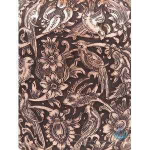Persian Handgraved Flower & Bird on Flower Vase - HGL3902-Persian Handicrafts