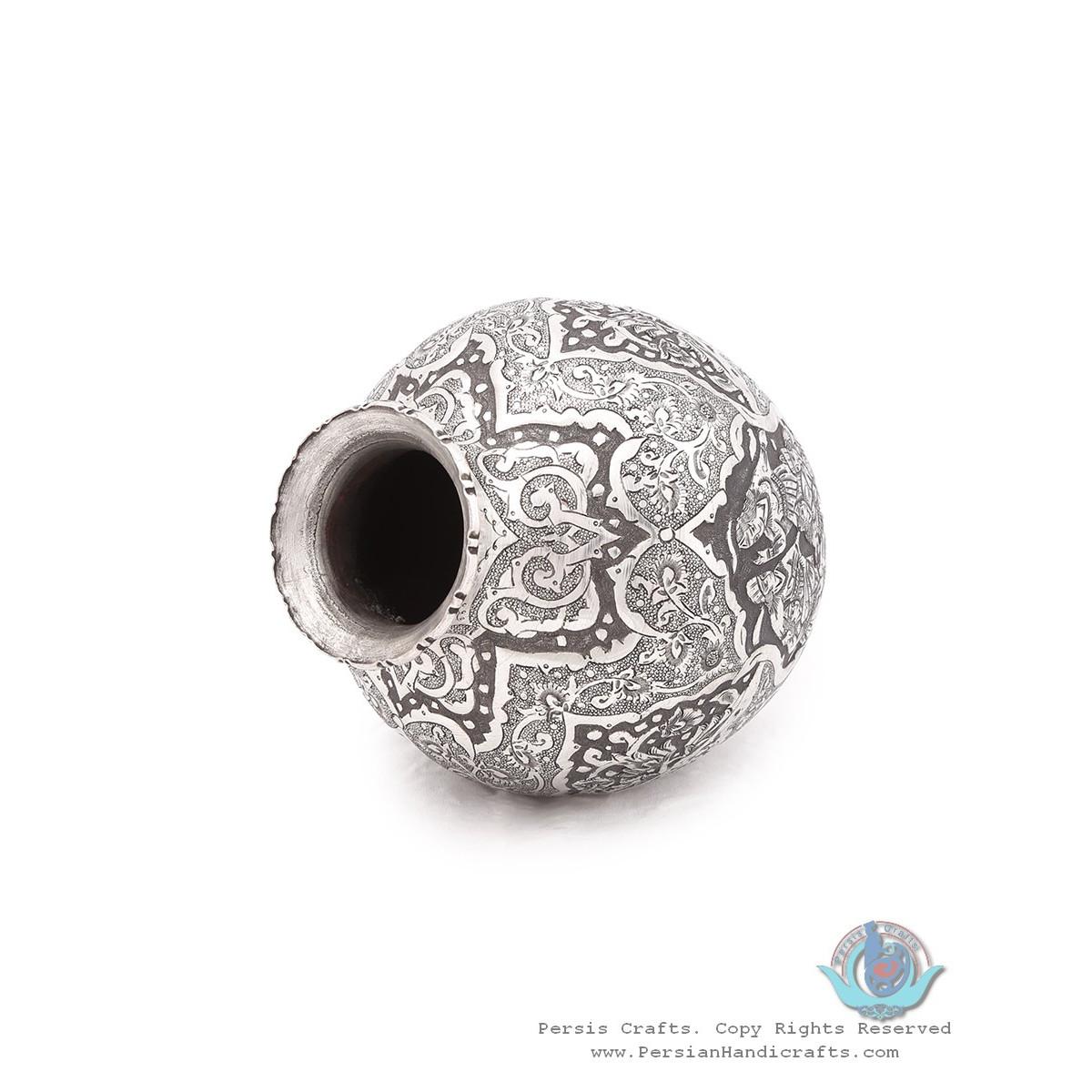 Traditional Handgraved Persian Banquet on Jug Style Flower Vase - HGL3904-Persian Handicrafts