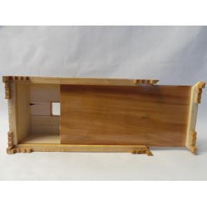 Khatam on Wood Tissue Box - HKH3001-Persian Handicrafts