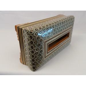 Khatam on Wood Tissue Box - HKH3012-Persian Handicrafts