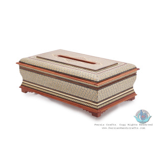 Privileged Custom Design Khatam Marquetry Tissue Box -HKH3901-Persian Handicrafts