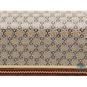 Classy Sun Design Khatam Marquetry on Wood Tissue Box - HKH3903-Persian Handicrafts
