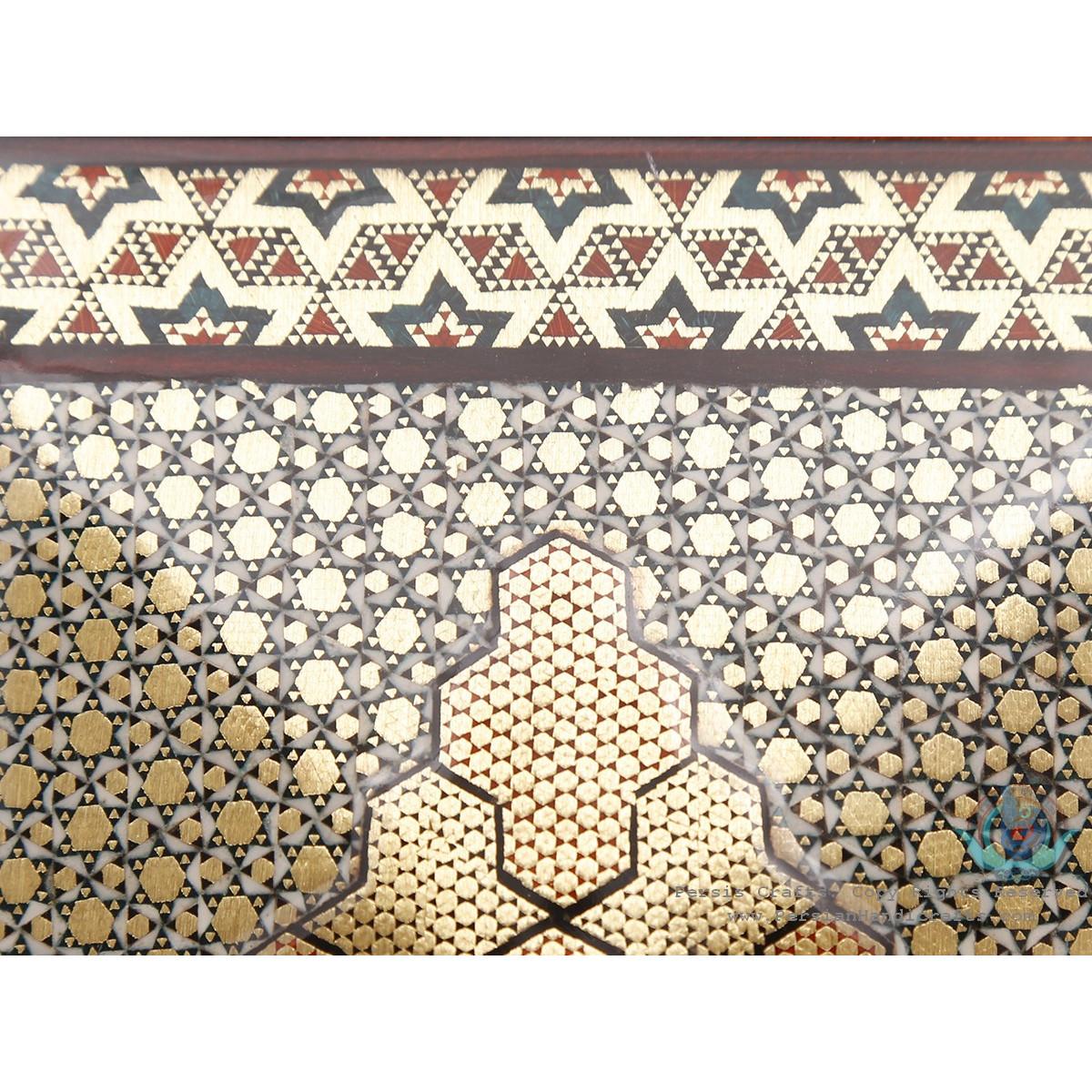 Privileged Design Khatam Marquetry on Hut Shape Decore Box - HKH3907-Persian Handicrafts