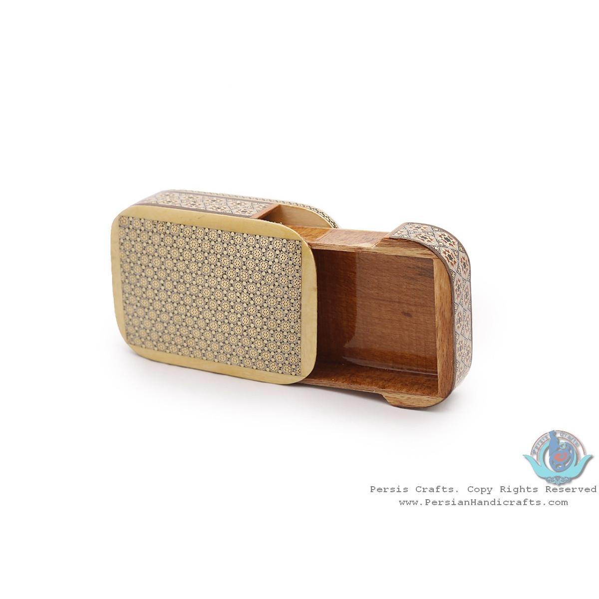 Classic Design Khatam Marquetry Slide in Jewellery Box - HKH3915-Persian Handicrafts