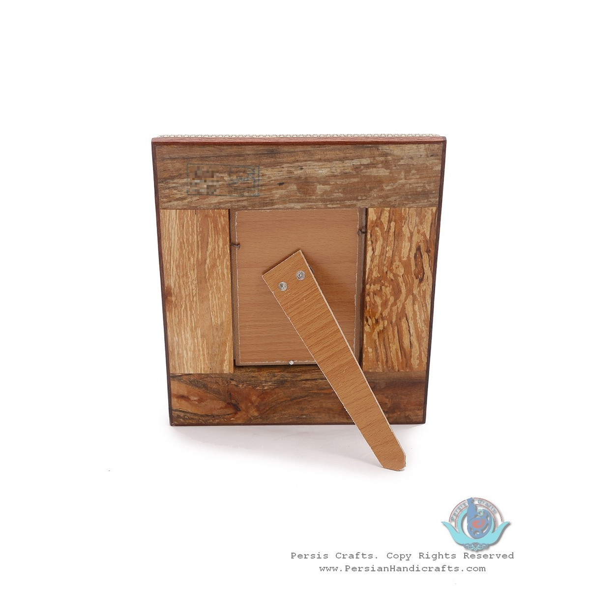 Classy Khatam Marquetry Photo Frame with Back Stand - HKH3922-Persian Handicrafts
