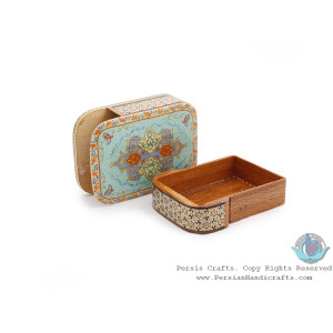 Slide-in Classy Khatam Card Holder w Miniature Design - HKH4006-Persian Handicrafts