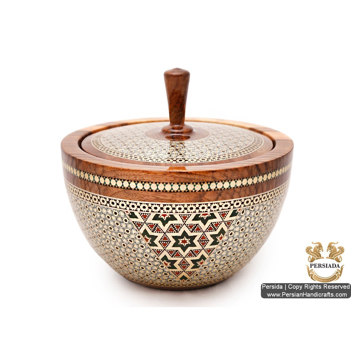 Classy Look Luxurious Bowl | Khatam Marquetry | HKH5202 | Persiada
