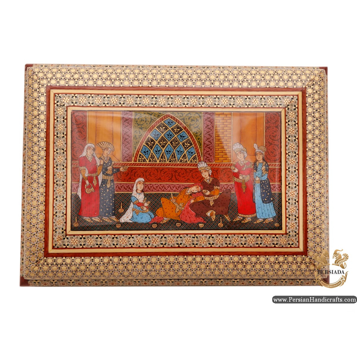 Luxurious Decor Box   Miniature Khatam Marquetry   HKH6111   Persiada