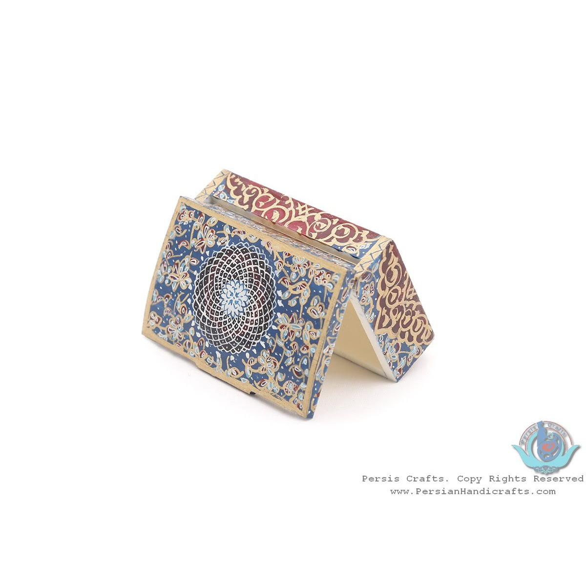 Common Miniature Chest Shape Jewelry Box - HM3917-Persian Handicrafts