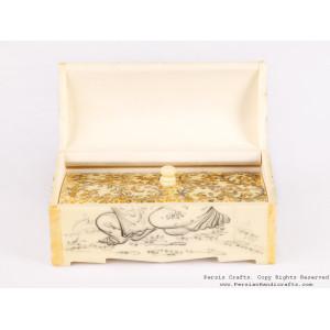 Miniature Hand Painted Jewelry Box - HM3109-Persian Handicrafts