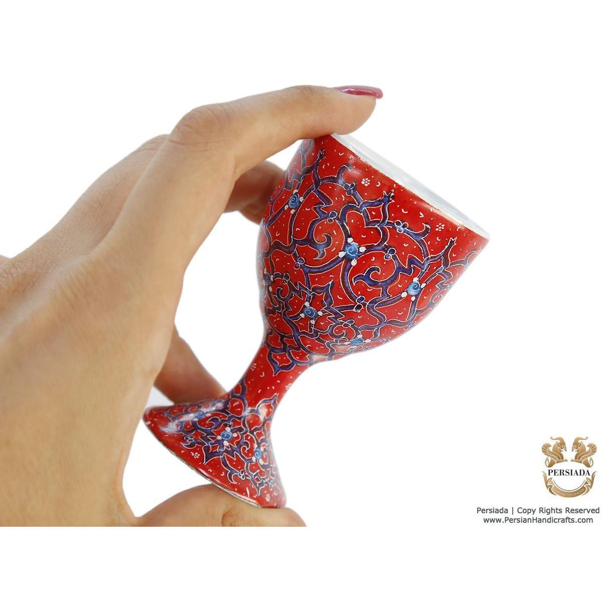 Egg Cup - Enamel Minakari | PE4110-Persian Handicrafts