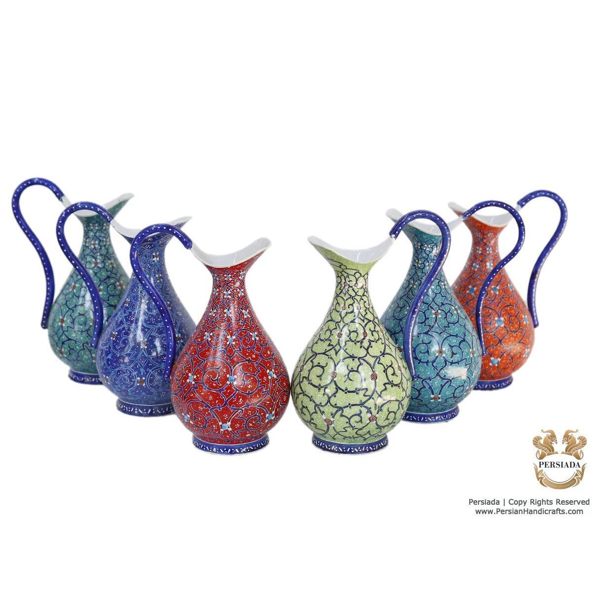 Milk / Sauce Jug - Enamel Minakari   PE4112-Persian Handicrafts