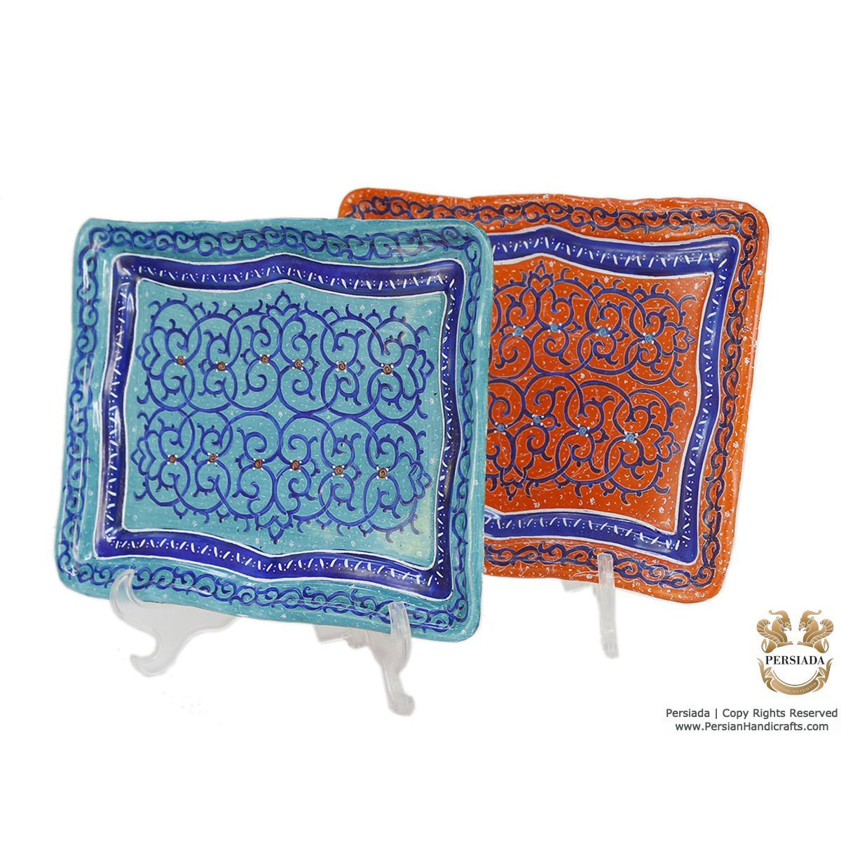 Mini Snack Tray - Enamel Minakari | PE4113-Persian Handicrafts