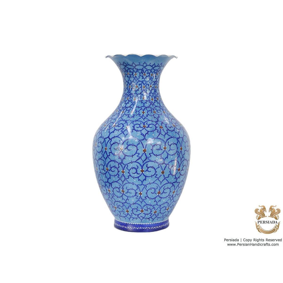 Decorative Flower Vase - Enamel Minakari | PE4114-Persian Handicrafts