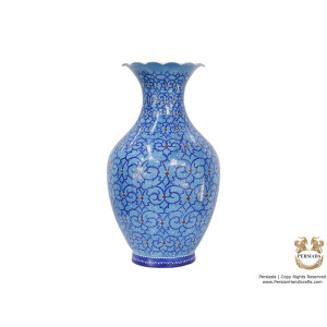 Decorative Flower Vase - Enamel Minakari | PE4114-Persian Handicrafts