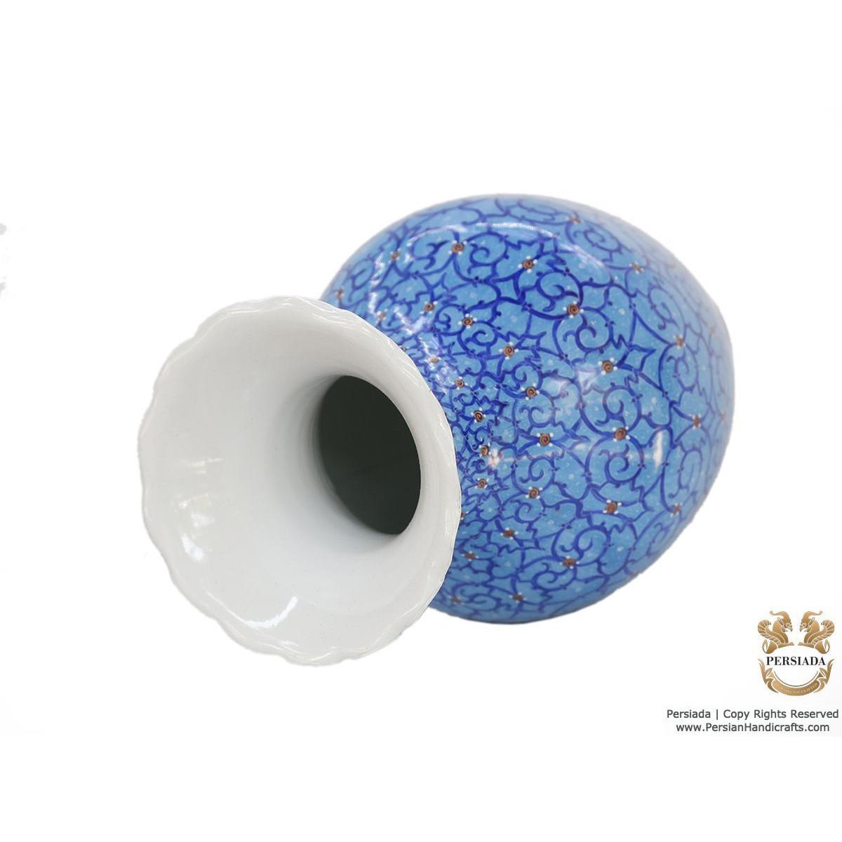 Decorative Flower Vase - Enamel Minakari   PE4114-Persian Handicrafts