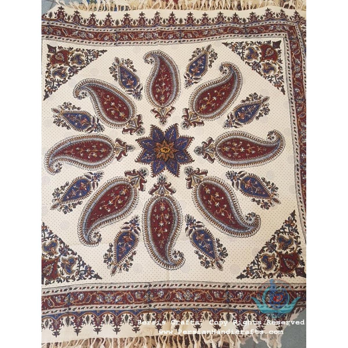 Hand Printed Ghalamkar Tablecloth - PGH1002-Persian Handicrafts