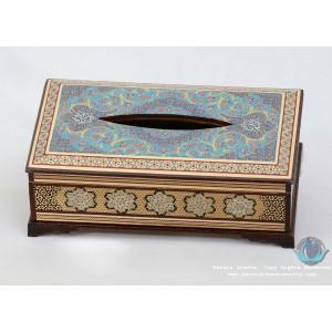 Privileged Custom Design Khatam Marquetry Tissue Box  - PKH1054-Persian Handicrafts