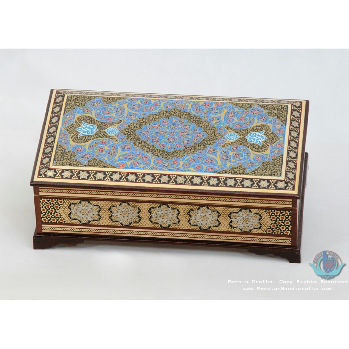 Persian Khatam Handicrafts Cutlery Box - PKH1055-Persian Handicrafts