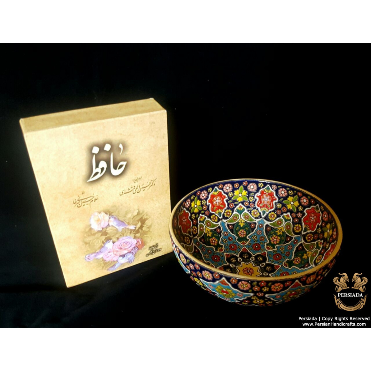 Bowl Persian Enamel on Pottery | HPM533-Persian Handicrafts
