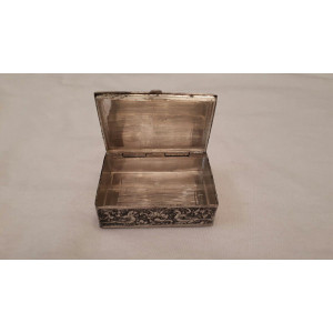 Hand Engraved Silver Jewelry Box - HS1000-Persian Handicrafts