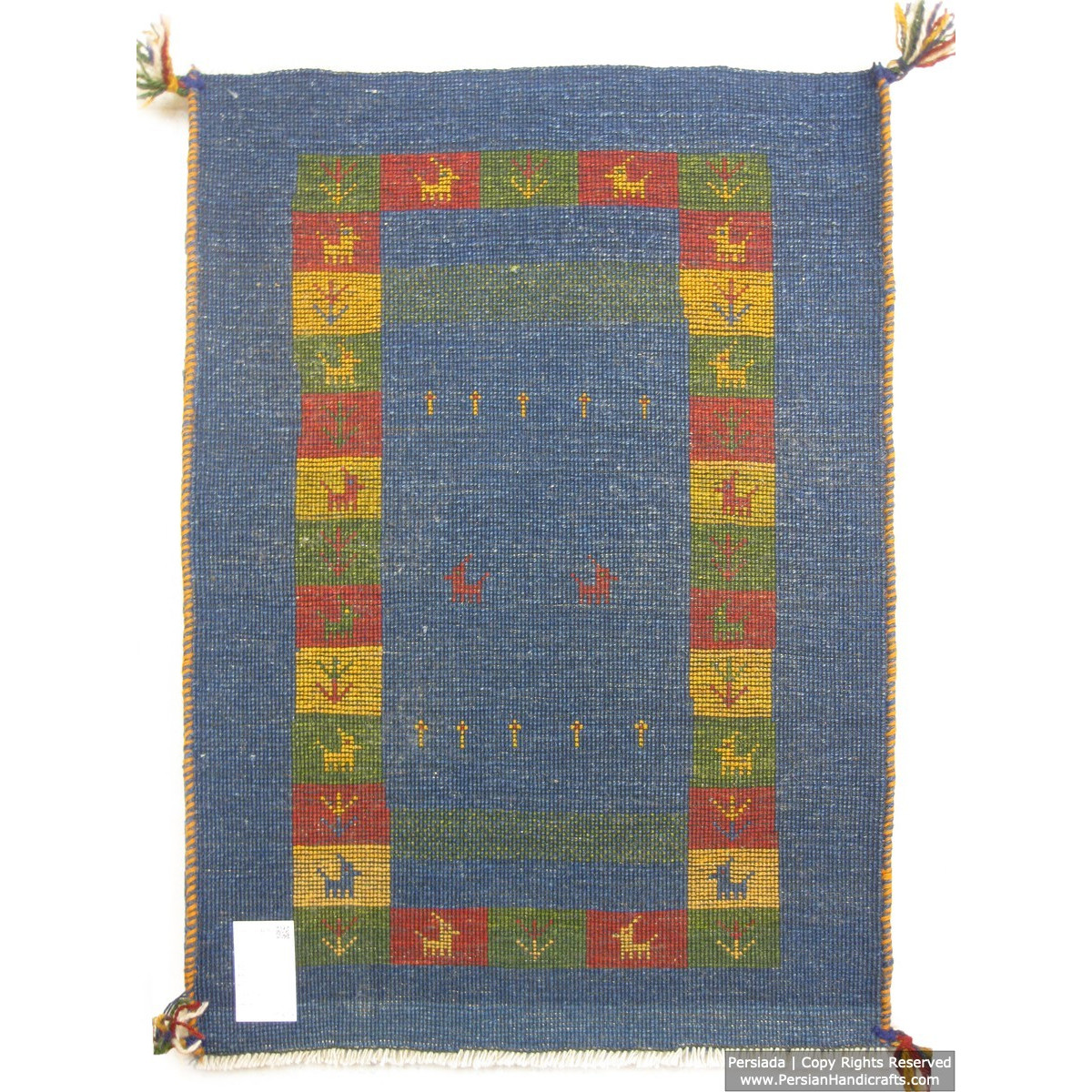Gabbeh Wool Rug from Persian Ghashghai Nomads - RG5018-Persian Handicrafts