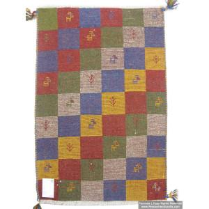 Gabbeh Wool Rug from Persian Ghashghai Nomads - RG5024-Persian Handicrafts